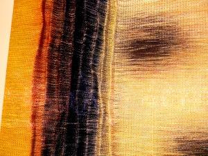 Sculptural textile art.