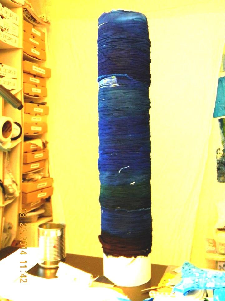 Shibori Wrapped on PVC pipe