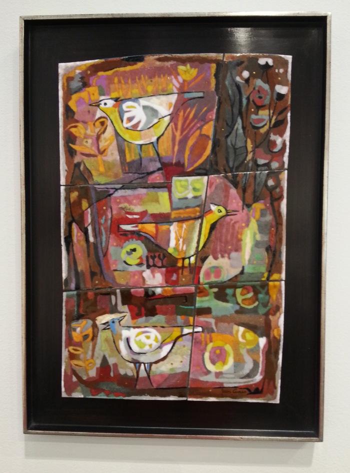Jean Ames. 1956.The Garden. Enamel on copper.