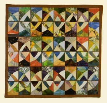"Kaleidoscope. 31.5"" x 32.5"" $1000."