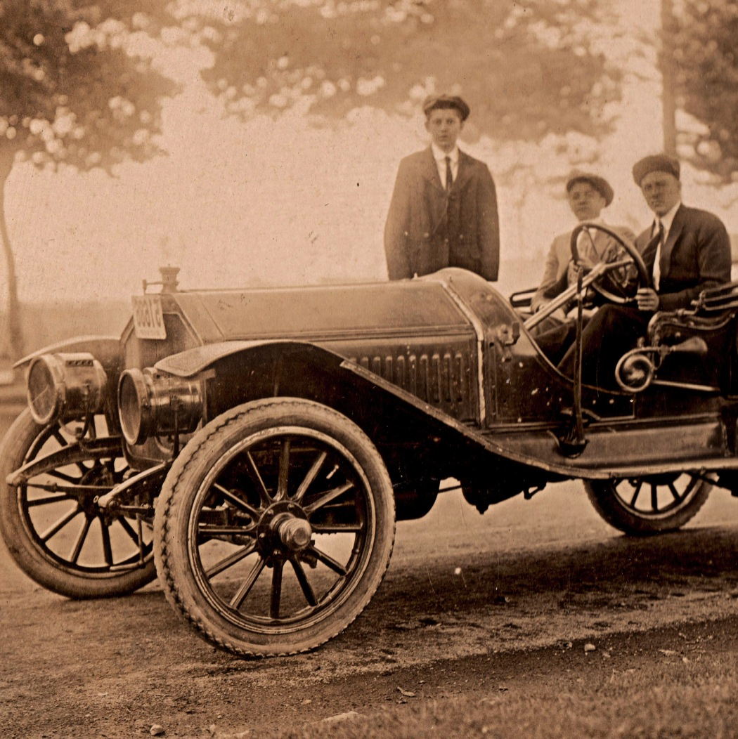 One of the first Fords built by a team of mechanics including my grandfather, Leon Doucette (not in picture).