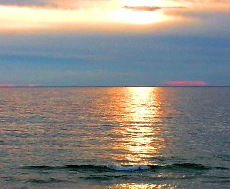 Sundown at Chappaquoit Beach