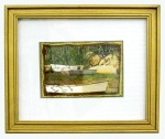 Chatham Harbor, 6x4  matted, photo art on  textured cloth with 9x11  painted, gold wood  frame/glass. $145.