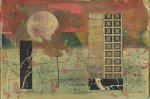 Many Moons Ago. Encaustic collage, 95.