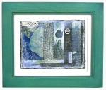 It Made Me Dance $175. 8x6 art, hand printed  images and photo collage in wood frame/glass.