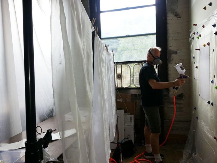 Steve Spraying inkAid