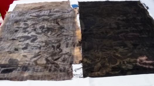 Left, cotton. Right, silk charmeuse.