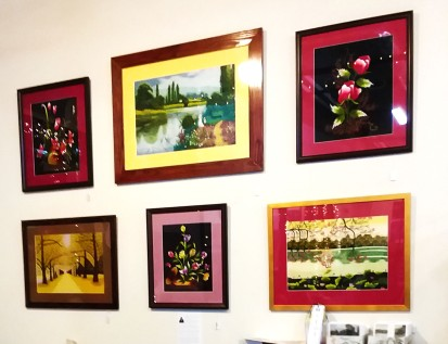 Anna Thai's Embroidered Art,Left Wall