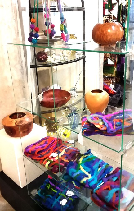 Betsey Cogwell's Felted Scarves & Necklaces