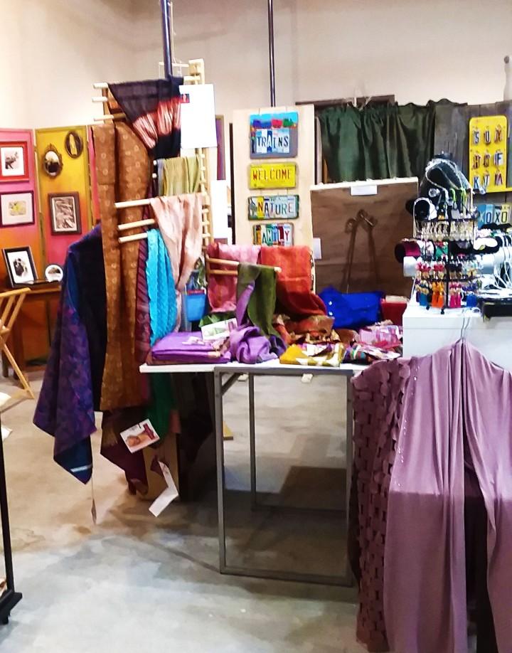 Preeti's Scarves, Rhama 's Jewelry & Textiles, In Back> Liz Tompkins & Glenn Kruse