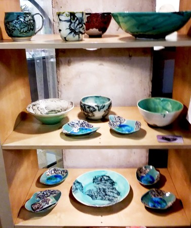 Tricia O'Cock's Glazed Pottery Right Center